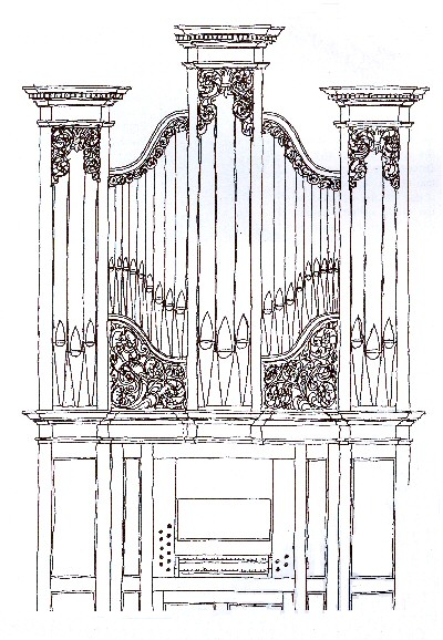 Organ Pipes Drawing That a Real Pipe Organ